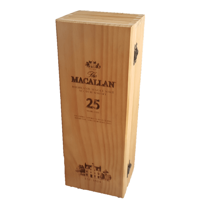 The Macallan 25 year Scotch Whiskey *Box Only* Collectible Wooden Gift