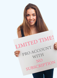 Create account with no subscription!